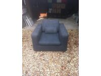 Large comfy arm chair from habitat