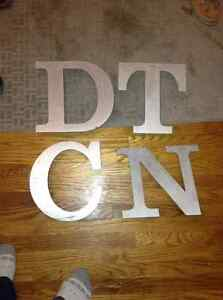 Large sized metal letters for sale London Ontario image 1