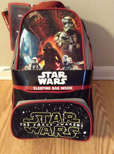 Star Wars The Force Awakens. Backpack and sleeping bag.