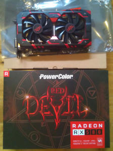 Wicked RX 580 Red Devil 8GB mint only $350