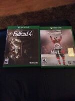 Fallout 4 et Nhl16 Xbox one