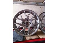 """16"""" Mg zr alloy wheels rover 4x100pcd good condition few minor marks all straight"""