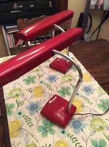 """""""2"""" FANTASTIC MID CENTURY """" CANDY APPLE RED"""" LAMPS"""