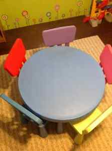 IKEA Mammut table with 5 Chairs London Ontario image 2