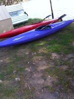 2 youth kayaks