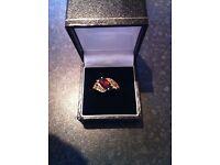 Garnet gold ring for sale