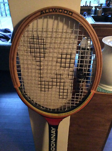 Awesome vintage Donnay wooden 1970s tennis racket.