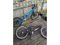 2 custom bmx's 1 Hoffman 1 mongoose cheap! Grab a bargain!