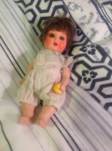 """6.5"""" PAINTED BISQUE DOLL- (Sale ON LAY-AWAY)"""