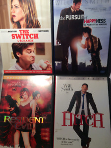 THE SWITCH/THE PURSUIT OF HAPPYNESS/RESIDENT EVIL/HITCH