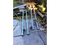 Van roof rack bars, two pairs very strong great condition