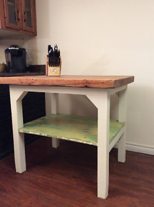 Antique Butcher Block table Entirely solid Maple