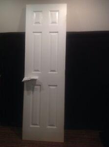 Portes peintes blanche