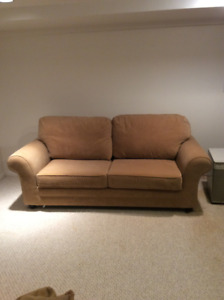 Sofa bed+matching chair-$150