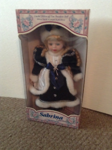 2 Beautiful Limited Edition of Fine Porcelain Dolls