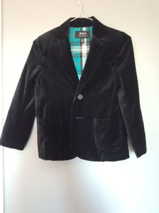 Black velvet boys dress coat/jacket sz 5/6