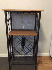 Wine rack and wine glass table