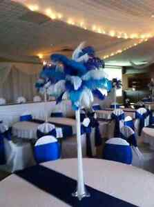 Ostrich feathers - blue