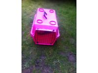 Cat carrier pink bit faded but ok