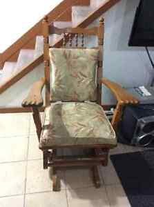 Solid oak rocking chair Cornwall Ontario image 1