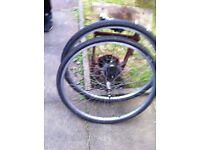 2 aluminium wheels for sale