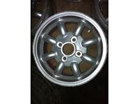 "Classic Mini Cooper mistral 12"" alloy wheels good condition"