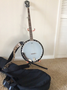 Epiphone 5 string banjo with extras