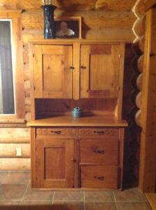 Beautiful pine hutch , >150 years old, purchased from an antique