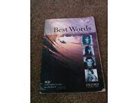 AQA Best Words GCSE English Literature Spec B Poetry Pre Post 1914 KS4