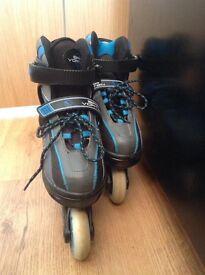 Adjustable in-line skates, size 12-2
