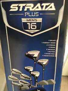 Brand NEW Calaway Strata Plus Men's 16 Piece Golf Clubs with Bag
