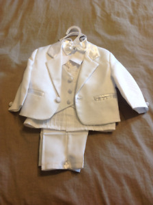 Baby Boy White Suit 3M