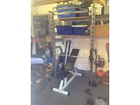 Smiths weights machine and bench