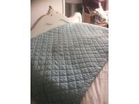 Laura Ashley Duck Egg Blue Bedspread
