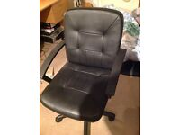 Leather desk chair £25ono