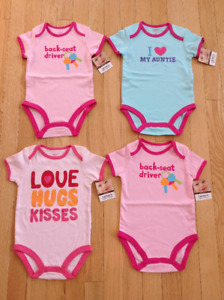 NEW Size 9 Months and 12 Months Girl's Carter's Onesies