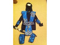 Halloween 5-7yrs ninja costume with sword with elbow and knee pad