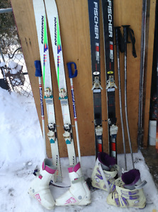 Skis/boots/poles