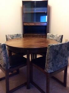 Vintage Dining Table and Chairs - Solid Wood
