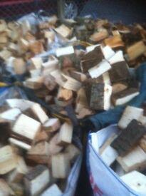 Bulk bags of hard wood logs