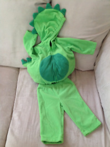 Little Green Dinosaur Costume - Infant 3-6 Months EUC