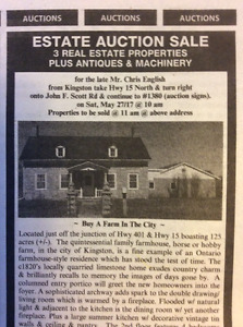 House & Land Auction May 27