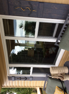 2 Windows and 6 pine doors for sale