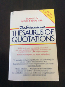 THE INTERNATIONAL THESAURUS OF QUOTATIONS BOOK