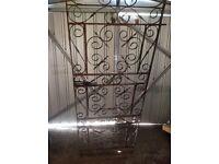Wrought iron full length gate
