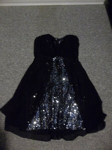 Black strapless with sequin prom/formal dress