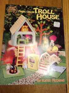 NEW PLASTIC CANVAS TROLL HOUSE BOOK
