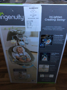 """"" Ingenuity InLighten Cradling Swing Still in Original Box"""""