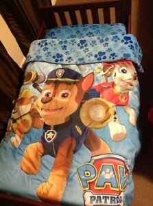 Paw patrol toddler bedding, bed & mattress Cambridge Kitchener Area image 1