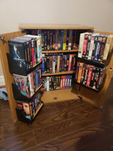 VHS Movies and Stand